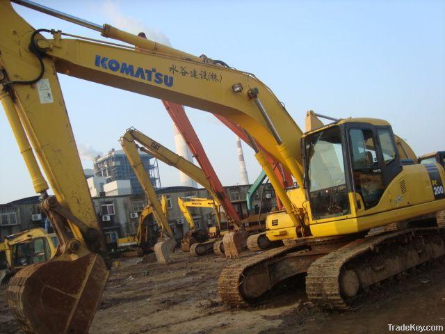 Used Komatsu Excavator, Komatsu PC200-7 Excavator, Excavators