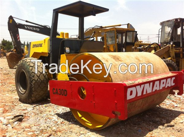 used single drum vibratory roller dynapac ca30