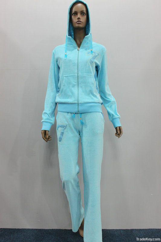 Fashion women velour tracksuit , jogging tracksuit, cheap tracksuit2013