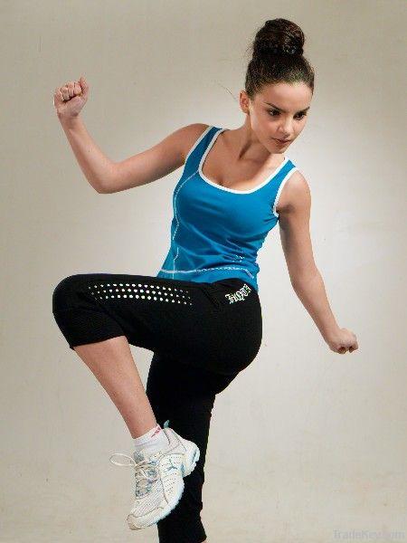 Hotsale women traning sportswear, sport tracksuit, bright sportswear
