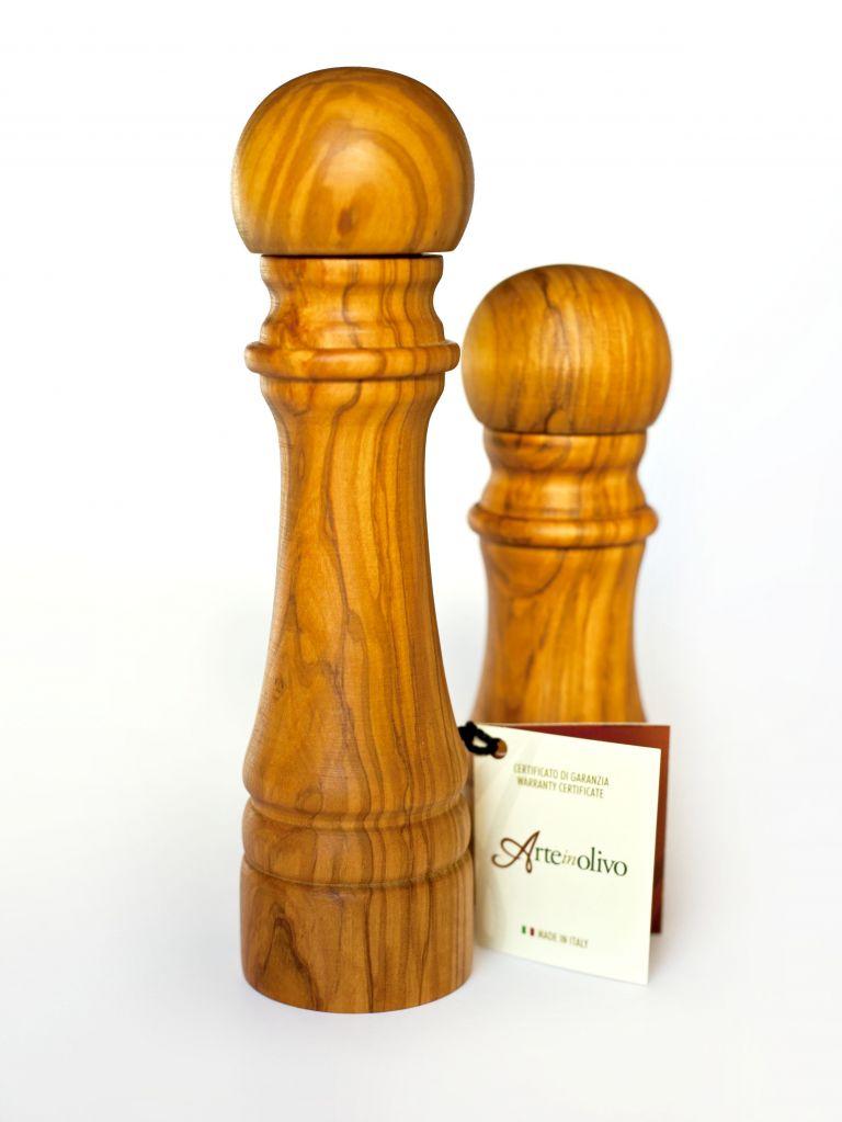 Olive wood pepper mill