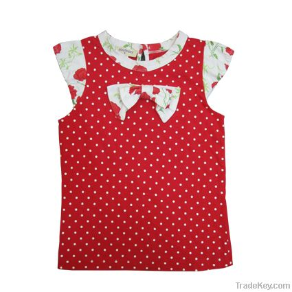 High quality childrens 100%cotton  t-shirts printed