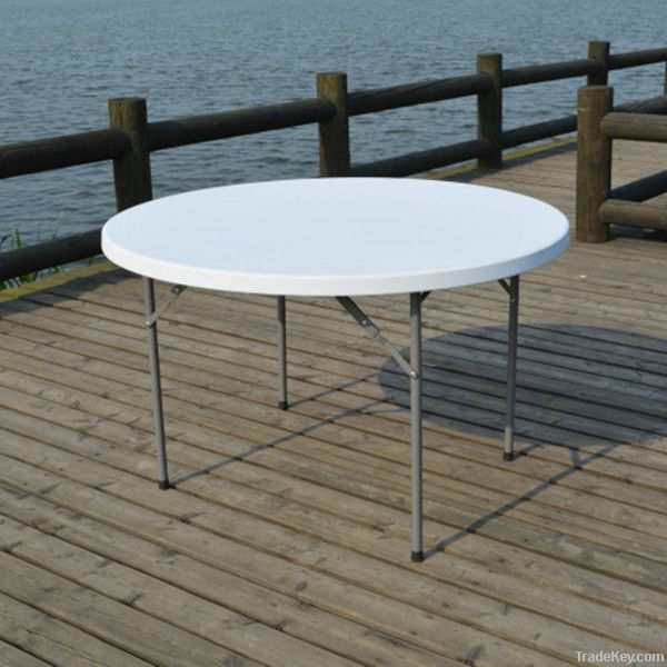 convenient furniture white 4ft restaurant round tables for party or ba