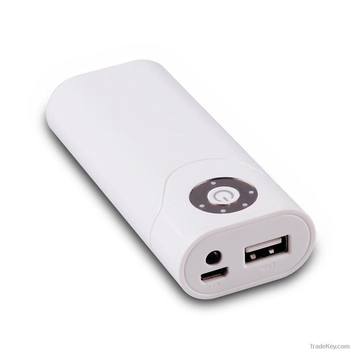 WHIT POWER BANK EXTERNAL BATTERY CHARGER FOR IPHONE 5 4/4s SAMSUNG HTC
