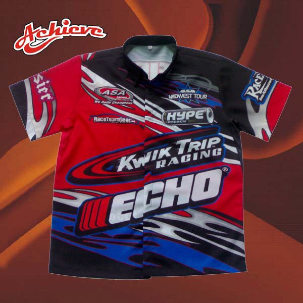 2013 New Style Sublimation Polyester Racing Shirt