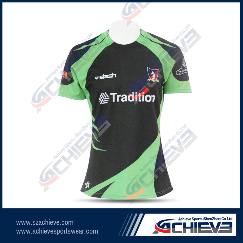 Tught fit sublimate printing rugby jerseys