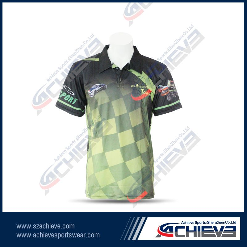 Custom Made Full Printed Sublimation Polo Shirts Sportswear