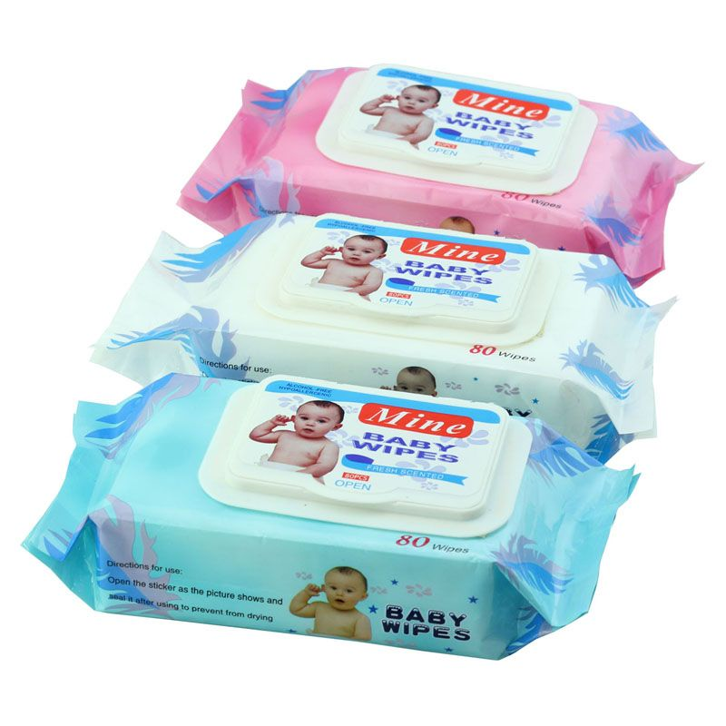 baby wet wipes with plastic lid (cover)  -CC210