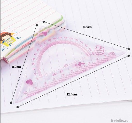 a ruler set for school students and drawing