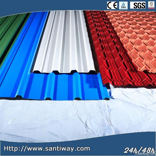 USA style Corrugated color steel plate