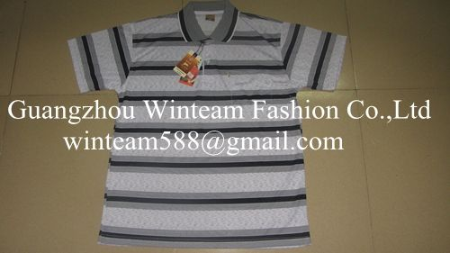 2014 wholesale readymade garments  men's polo shirt 2011 striped print shirt for men