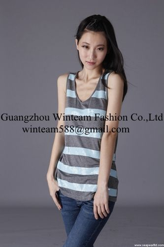 2014 wholesale fashion sleeveless vests sequin tank top from China oem supplier