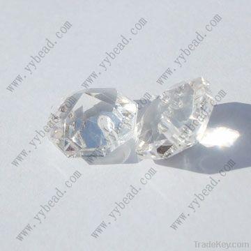 popular clear acrylic octagon beads
