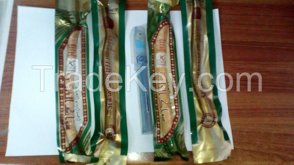 18 X Miswak+miswak holder (Traditional Natural Toothbrush), peelu miswak, meswak, sewak, arak