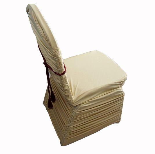 200gsm ruffle spandex chair cover