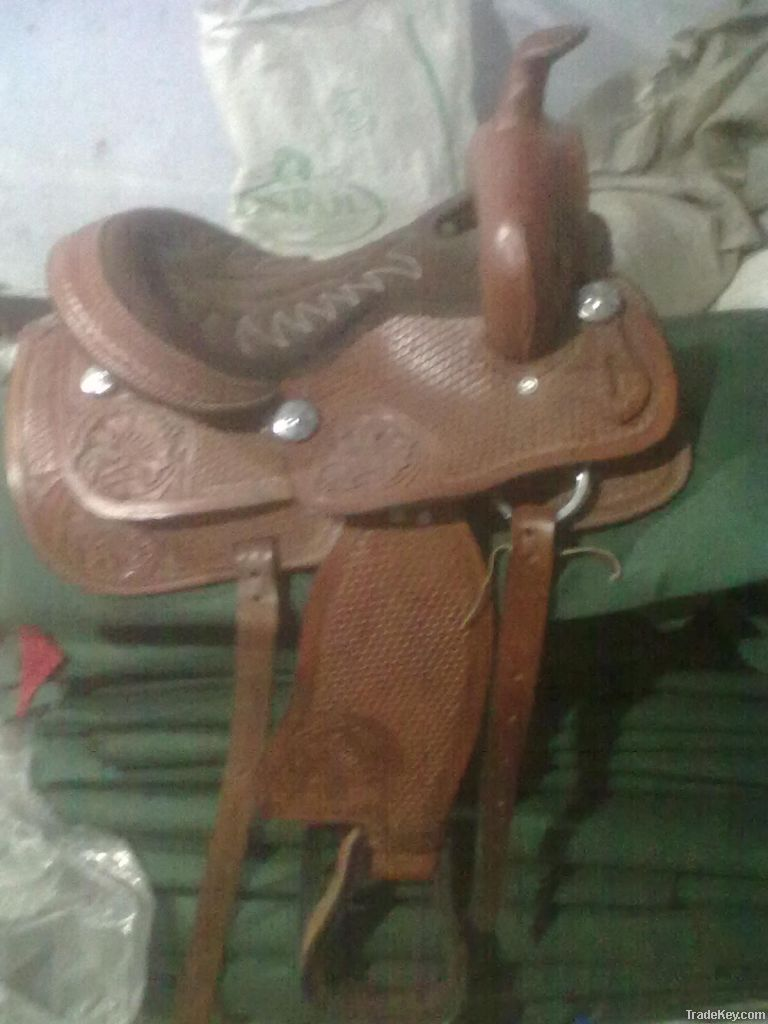 Western pony Saddle(Leather)
