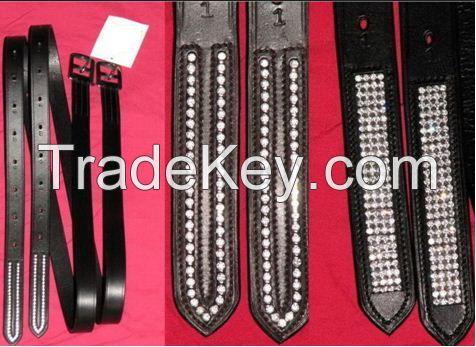 Bling Crystal Leather Halter