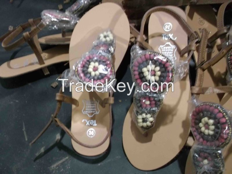 Genuine leather Branded Slippers