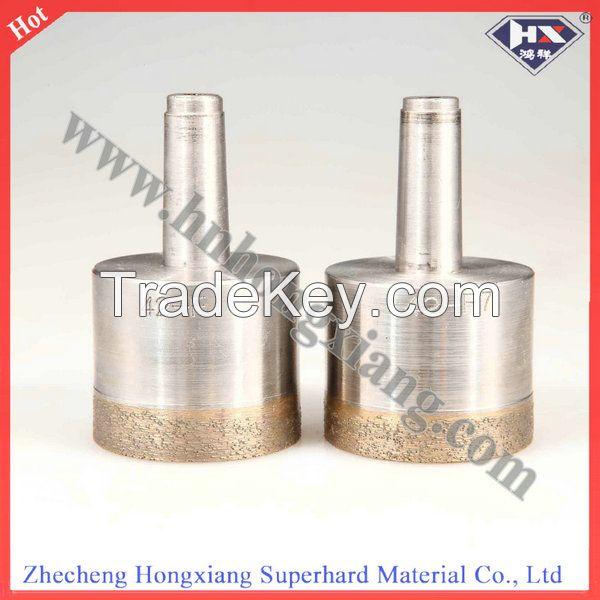 Sintered diamond drill bit for glass drilling