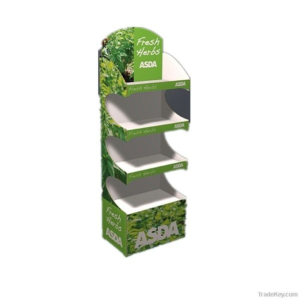 ALCON 4-tier green cardboard paper display tray
