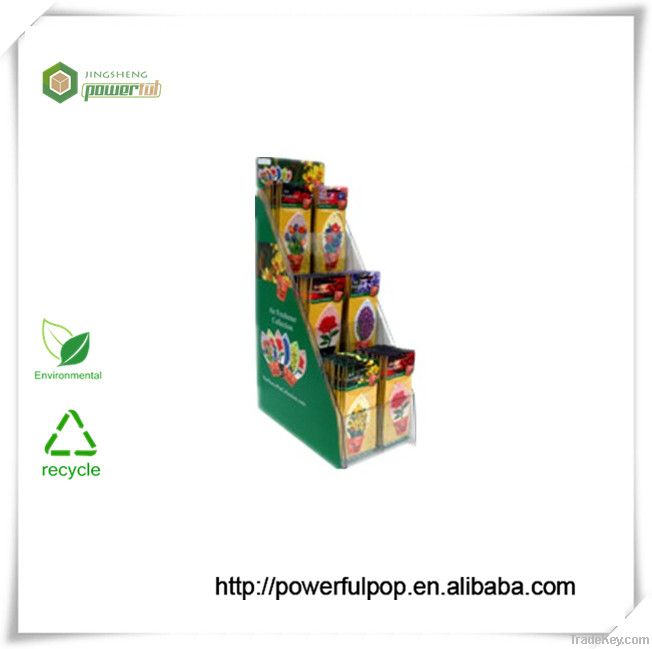 step pop up cardboard display stand