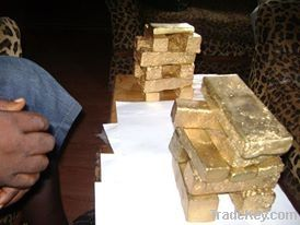 Alluvial Gold Dust, Gold Bars