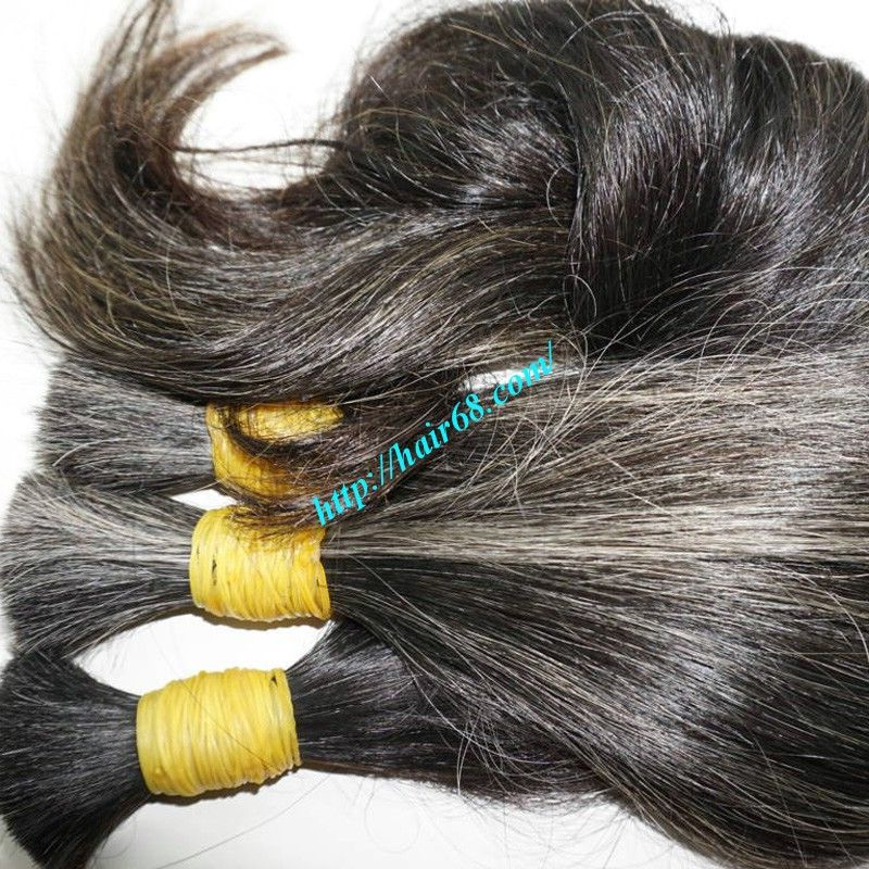 Grey Human Hair 100% Natural Hair Extension