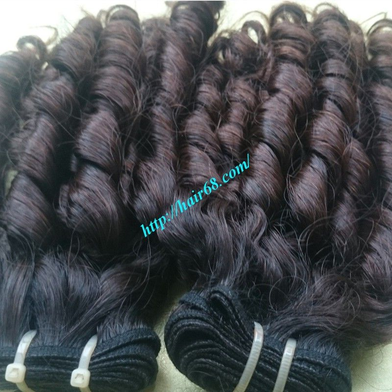 Loose Curly Weft Loose Wave Weft 100% Remy Human Hair