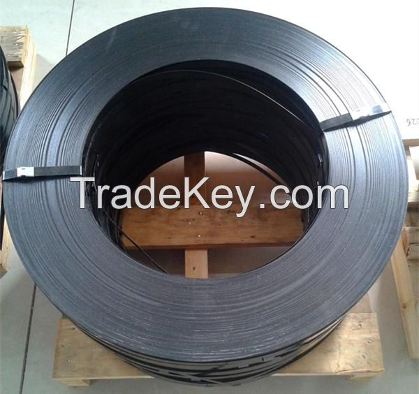black painted steel strapping band 1.0*19mm/25.4mm/32mm