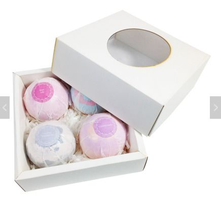 Relaxing Function and Ball Shape OEM ODM Bath Bomb salt with gift box