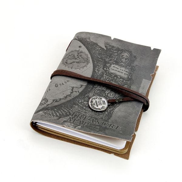Fabric notebook--Treasure map series