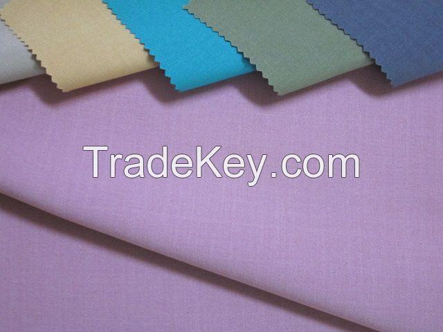 Mechanical stretch melange slub fabric