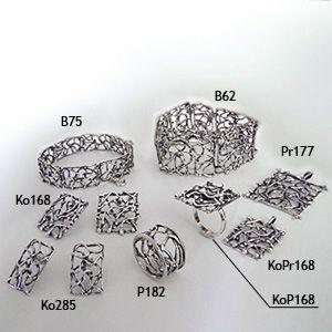 sterling silver oxidized set