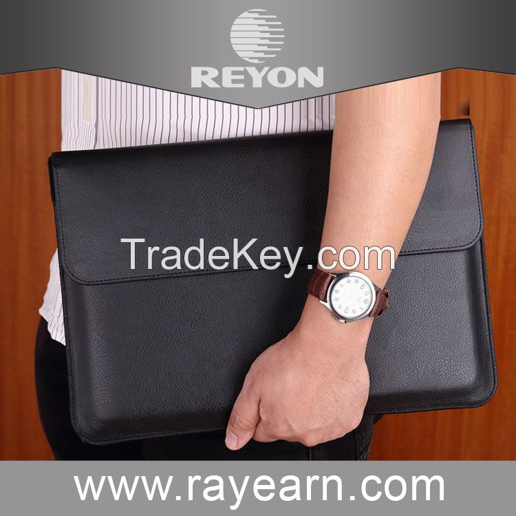 Reyon Macbook Air 12 inch Case - Leather Sleeve (Black) for Apple Macbook Air 12 and most tablets