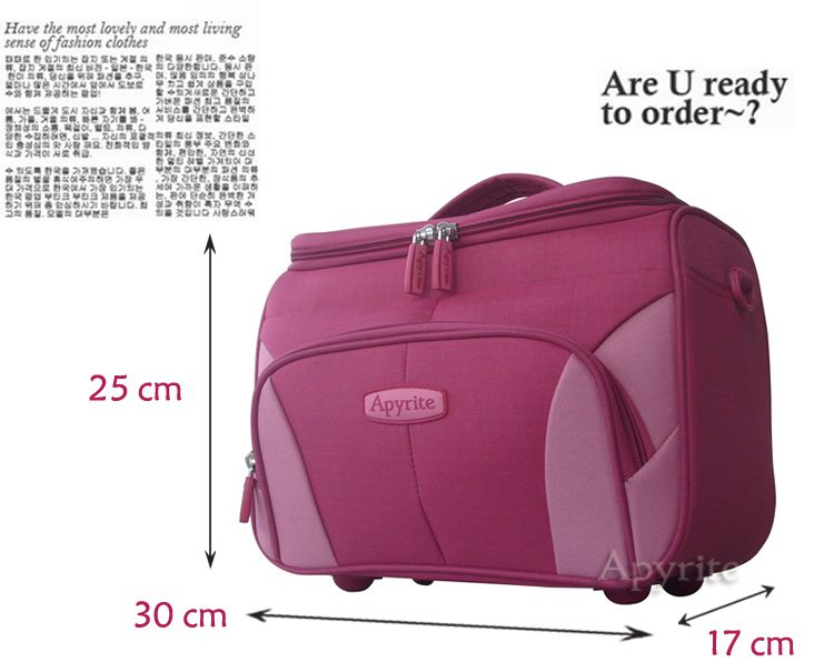 2014latest fashion beautybag/lady beauty case/cosmetic dressing professional beauty bag large space and light weight pink/red