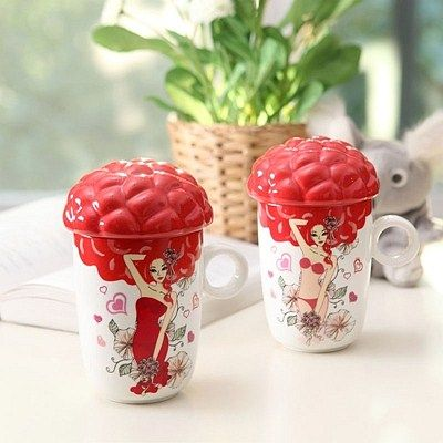 FDA SGS Proved Personality Magic Change Color Sexy Red Bikini Ceramics Coffee Mugs China Factory