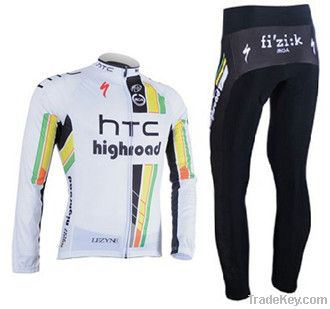 High Quality Pro Cycle Wear, Breathable Jersy, Padded Compressi Pants