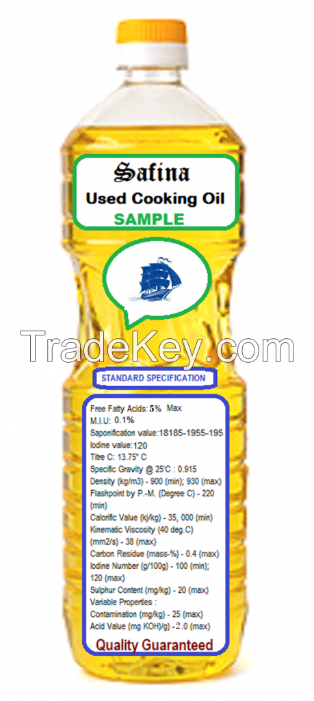USED COOKING OIL, VEGETABLE COOKING OIL, ANIMAL FEEDS