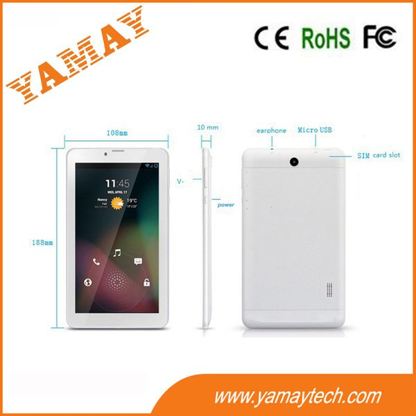 7inch android 4.2 MTK8312C 2G phone calling tablet pc