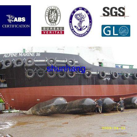 Ship lifting airbag