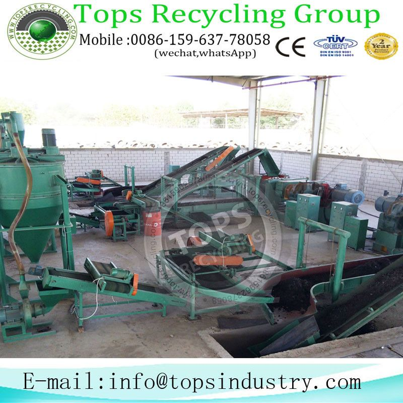 Disposed Tyre Recycling Crushing Line