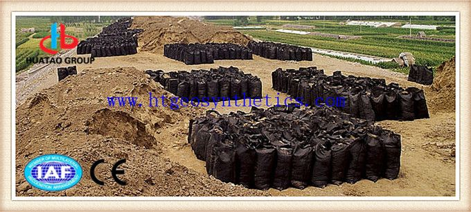 Geotextile fabric sand bag