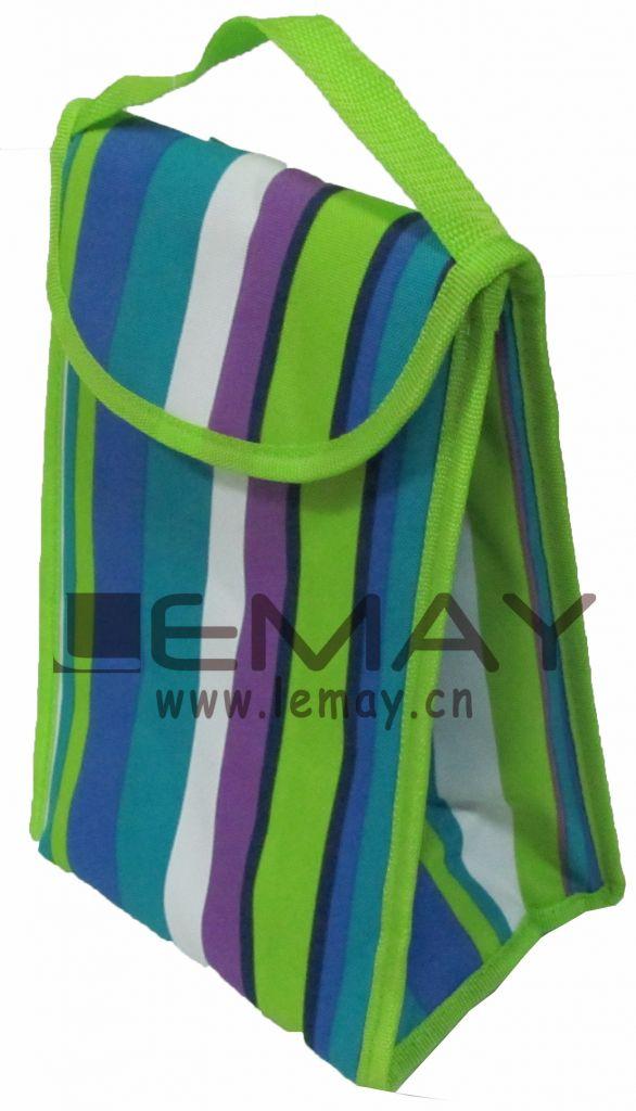 Polyester 600D red cooler bag