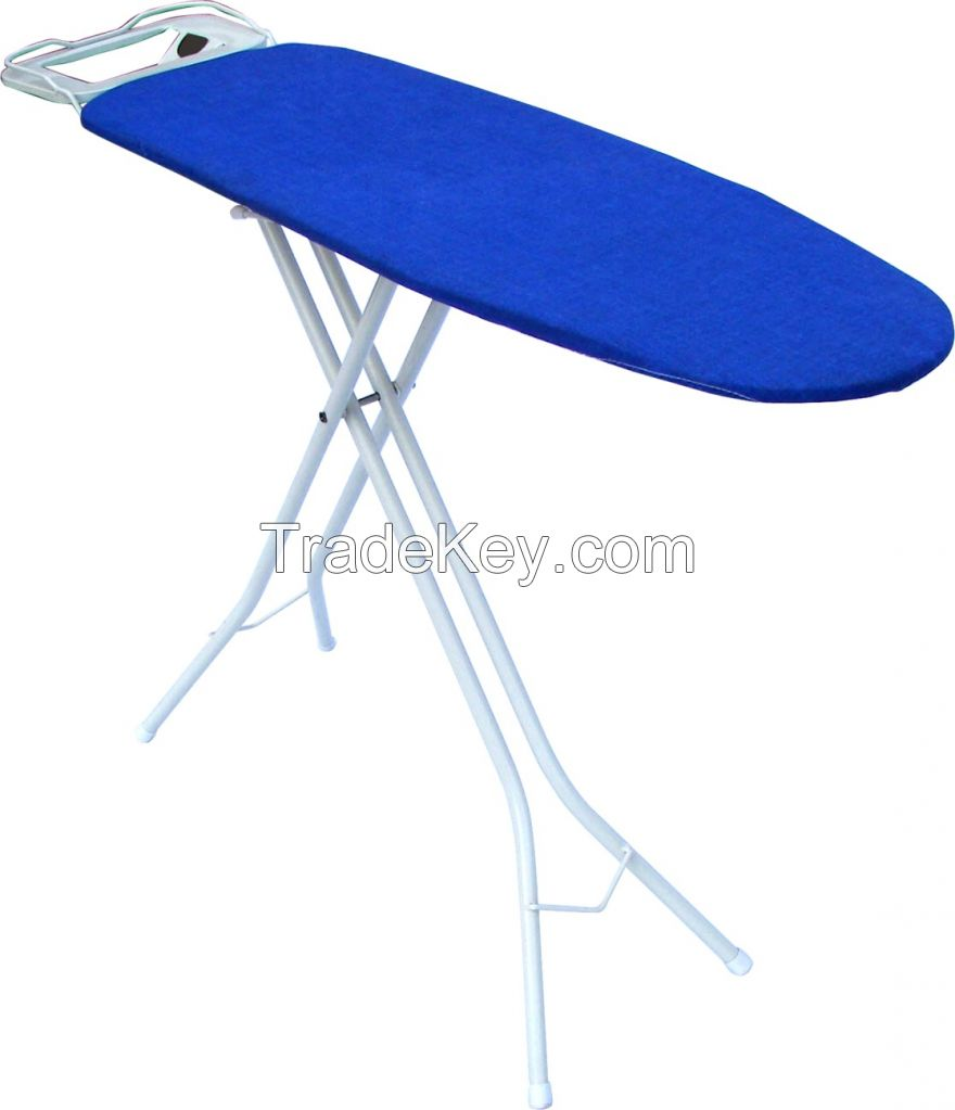 100% Colorful Cotton Cover European Style Mesh Top Folding Ironing Board Ironing Table Iron Board for Household