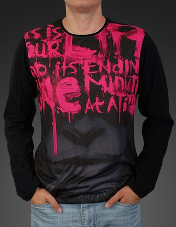 Men's Casual Long Sleeve T-shirt Sweatshirt Sublimation