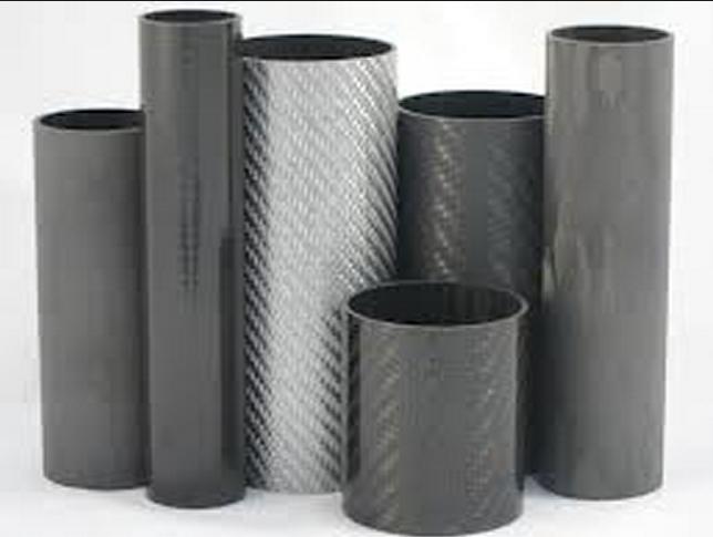 Red 3K Winding Twill/Plain weave Carbon Fiber Tube/pipe