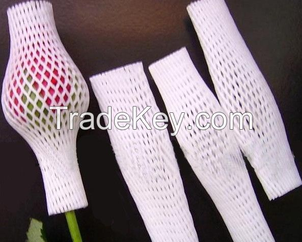 Eco-friendly  EPE Foam Protective Net/Sleeves for Flowers, Vegetables, and glass bottles
