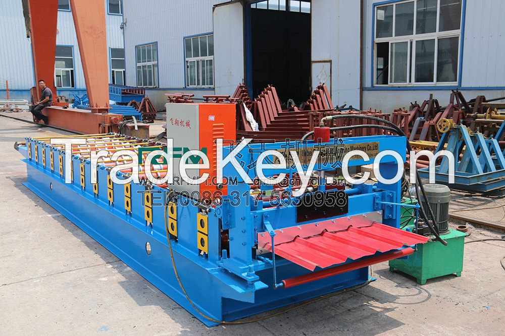 FT 840 galvanized roofing sheet Color Steel Roll Forming Machine In Hebei