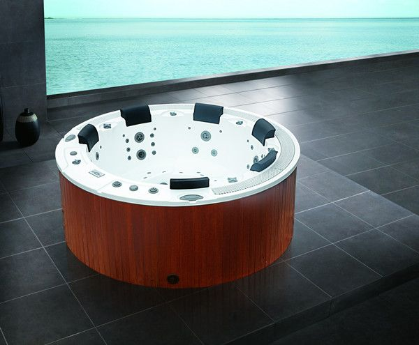 Sunrans Balboa system family sex hot tub 6 person LED lights CE approved SR831 sex hot tub massage spa
