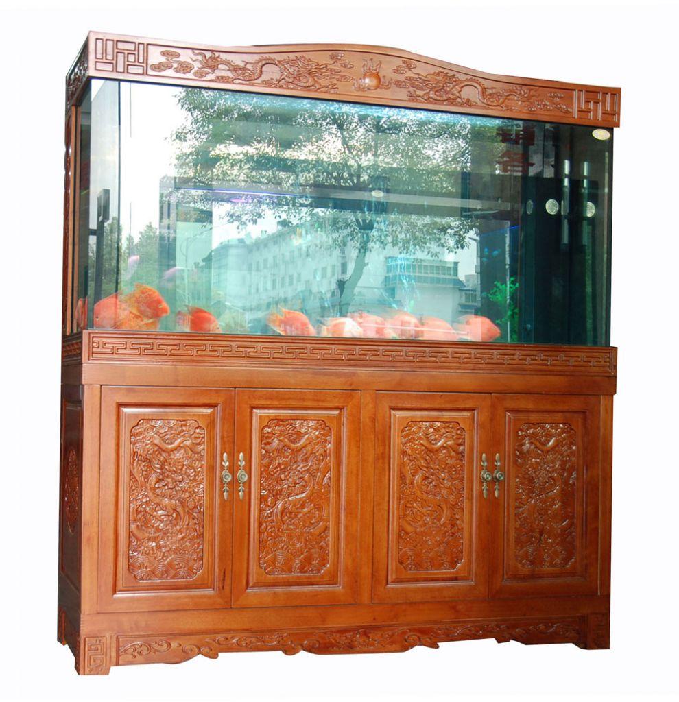 European Style Solid Wood Cabinet Fish Tank Aquarium